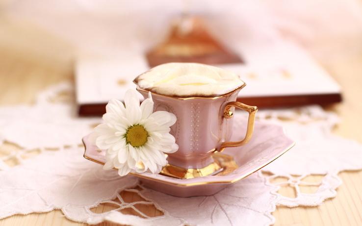 Картинки кофе и цветы 2