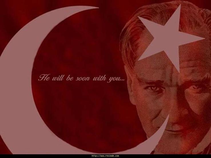 Ataturk Ve Turk Bayragi Resim Wallpaper Guzel Resimler Manzara Resimleri