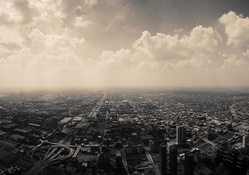 768-clouds,nature,cityscapes,skyline,Chicago,architecture,urban,buildings,monochrome,cities