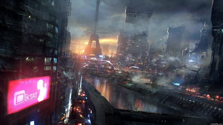 1324952-Eiffel Tower,Paris,cityscapes,futuristic,dystopia,science fiction,artwork,Iktat.jpg