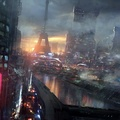 1324952-Eiffel Tower,Paris,cityscapes,futuristic,dystopia,science fiction,artwork,Iktat