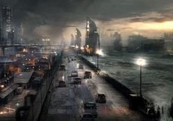 1386650-ruins,cityscapes,rain,waves,cars,roads,science fiction,flood,apocalyptic