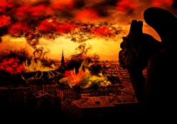 1399172-orange,smoke,devil,gargoyle,digital art,end,apocalyptic,cityscapes,fire
