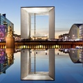 1431161-Paris,cityscapes,France,symmetry,Grande Arche,La Defense