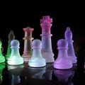 1518-glass,chess,rainbows,glass art