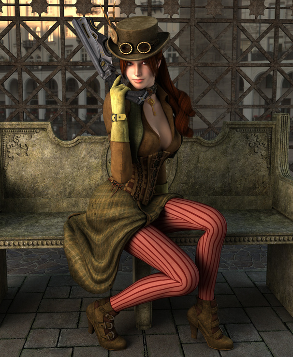 449151-women,3D view,CGI,steampunk,weapons,victorian,necklaces,3D girls,steam punk.jpg