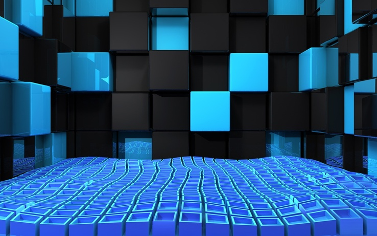 723585-3D view,abstract,blue,black,wall,design,cubes.jpg