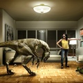 814711-TV,3D view,back,dinosaurs