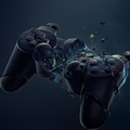 919444-Sony,console,crash,PlayStation,destroyed,crush,gamers,DualShock,gamepad,controllers,Tragedy,video games,black,broken