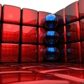 1007838-3D view,abstract,balls,cubes,3D render