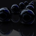 1120428-3D view,black,dark,spheres,render