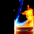 1373700-fire,glass,reflections,black background