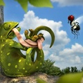 1500272-lizards,Tangled,3D,cartoons,funny