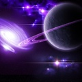 763677-stars,galaxies,planets,purple,rings,bright,light,outer space