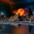765747-mountains,Sun,outer space,rivers