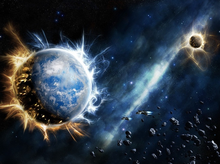 787422-Space Shuttle,nebulae,aurora,Planet Earth,continents,astroids,ocean,clouds,outer space,stars,galaxies.jpg
