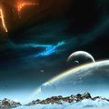 812152-mountains,outer space,planets