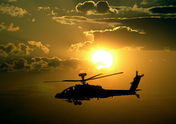 697-sunset,nature,apache,military,helicopters,vehicles,AH-64 Apache