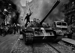 378592-black and white,military,riot,revolution,tanks,protest,T-55