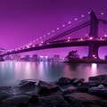 1631791-purple,Manhattan,Brooklyn,city lights,rivers,bright,suspension bridge,Manhattan Bridge,East River
