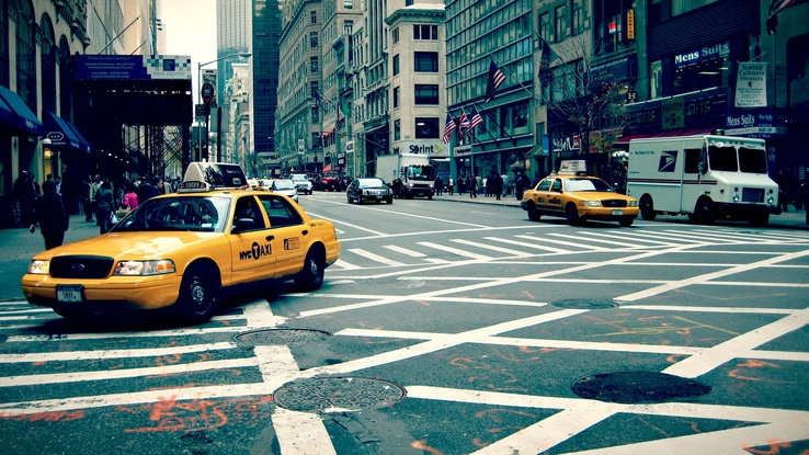1634673-New York City,taxi,crossovers,sidewalks,cityscapes,streets,urban,USA,traffic.jpg
