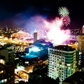 1645442-buildings,Sydney,city lights,Australia,Australian,nighttime,city skyline,explosion,cityscapes,citylife,night,lights,colors,multicolor,wall,explosions,fireworks
