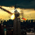 1708658-New York City,Manhattan,Empire State Building,armageddon,meteorite,movies