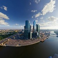 1723193-clouds,cityscapes,bridges,fisheye effect,Moscow city,blue skies
