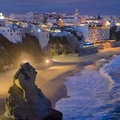 1743470-beach,cityscapes,sea,night,town,water