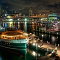 1743491-night,Sydney,city lights,HDR photography,port,town view