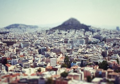 1834601-mountains,cityscapes,houses,Greece,tilt-shift,Athens,cities