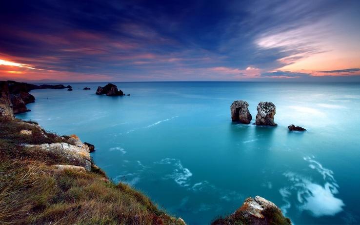 Mavi deniz ve gökyüzü mavi deniz ve gökyüzü